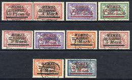MEMEL 1922 (Oct.) Airmail Overprints On France  Used.  Michel 98-107 - Klaipeda