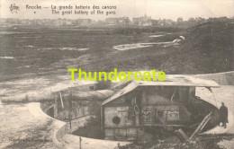 CPA  KNOCKE LA GRANDE BATTERIE DES CANONS - Guerre 1914-18