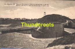 CPA  KNOCKE SUR MER BATTERIE WILHELM II PIECE DE PROTECTION C 305 MIL - Guerre 1914-18