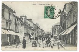 ÉPERNAY (Marne) - Rue Saint-Thibault - Belle Animation - Drapeaux Aux Fenêtres - Epernay
