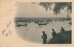 CARRIERES SUR SEINE - ILE FLEURIE - La Pêche à La Ligne - Carrières-sur-Seine
