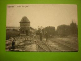 Oignies, Gare Le Quai (repro De 1985)  (i1) - Aiseau-Presles