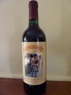 """Bouteille De Vin Cuvée Spéciale Cyclosportive""""La Hubert Arbes 1996"""" Vélo - Cyclisme - Vin"""