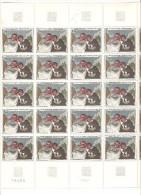 France Feuille Complete  Du N 1494 Neuf ** Mnh Avec Varietes Multiples Ex 1965 Moitie De 1966 Impression Macule Exetera - Feuilles Complètes