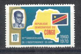 Kongo ( Kinshasa ) 1970 - Michel Nr. 360 ** - Dem. Republik Kongo (1964-71)