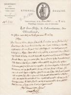 21 Thermidor An 8 - Manuscrit - Lettre Du Sous Préfet De CHATEAUBRIANT Au Maire De NOZAY Loire Inférieure - Documents Historiques