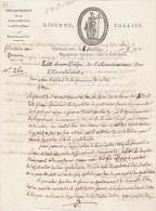 1 Fructidor An 8 - Manuscrit 2 Pages - Lettre Du Sous Préfet De CHATEAUBRIANT Au Maire De NOZAY Loire Inférieure - Documents Historiques