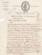 5 Fructidor An 8 - Manuscrit 1 Page - Lettre Du Sous Préfet De CHATEAUBRIANT Au Maire De NOZAY Loire Inférieure - Documents Historiques