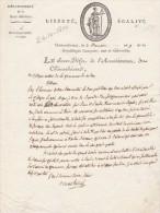 2 Brumaire An 9 - Manuscrit 1 Page - Lettre Du Sous Préfet De CHATEAUBRIANT Au Maire De NOZAY Loire Inférieure - Documents Historiques