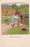 CARD EBNER DUE BUONI AMICI BIMBA CANE CUCCIA  -FP-VSF-2-0882-24687 - Ebner, Pauli