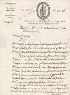 15 Floréal An 9 - Manuscrit 1 Page - Lettre Du Sous Préfet De CHATEAUBRIANT Au Maire De NOZAY Loire Inférieure - Documents Historiques