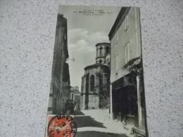 RUE DE L´EGLISE  ET EGLISE SAINT HILAIRE 1906 - Montcuq