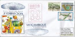 """MOZAMBIQUE.""""NOURRIR LA PLANÈTE"""". EXPO MILAN 2015, Lettre Du Pavillon Du Mozambique, Adressée En Andorre - Mozambique"""