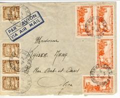 Indocina,  Bella Lettera Da Saigon Ad Algeri Spedita Il 31-3-948 Affrancata Con 4 Valori Ordinarida C. 3 E 4 PA Da C. 37 - Covers & Documents