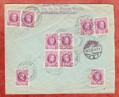 Einschreiben Reco, MeF Koenig Albert, Bruxelles Nach Stettin, AK-Stempel 1925 (26353) - Belgien