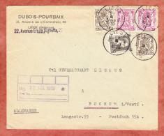 Brief, MiF Wappenloewe U.a., Liege Nach Bochum 1939 (26354) - Belgien