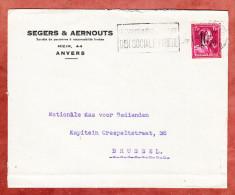 Brief, EF Van-Acker-Ausgabe, MS Anvers Nach Bruessel 1940 (26355) - Belgien