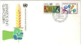 ONU - NAZIONI UNITE - UNITED NATIONS - NATIONS UNIES - 1980 - Economic And Social Council - New York - FDC - New York - Sede Centrale Delle NU