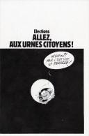 HUMOUR GASTON LAGAFFE FRANQUIN ELECTIONS BELLE CARTE RARE !!! - Humour