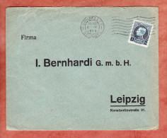 Brief, EF Karl Albert, MS Bruxelles Nach Leipzig 1926 (26358) - Belgien