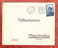 Brief, EF Weltausstellung, MS Bruxelles Nach Muenchwilen, AK-Stempel 1934 (26359) - Belgien