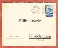 Brief, EF Weltausstellung, MS Bruxelles Nach Muenchwilen, AK-Stempel 1934 (26361) - Belgium