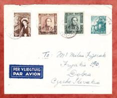Luftpostbrief, MiF Koenig Leopold U.a., Waregem Nach Dobra 1949 (26362) - Belgien