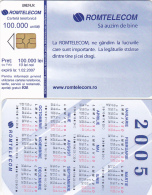 PHONECARDS ROMANIA 2005,ADVERTISEMENT,CALENDAR. - Romania