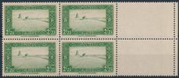 Algérie 1936 - Halte Saharienne  2.25 Fr ,Yvert# 121 - Bloc De 04 , Avec Bord De Feuile - Neuf Sans Charnieres , Luxe ** - Algérie (1924-1962)