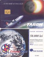 PHONECARDS ROMANIA 1999,ADVERTISEMENT,AIRPLANE,EPACE. - Romania