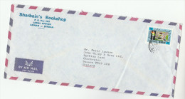 Air Mail JORDAN Harbains Bookshop COVER Stamps TRAFFIC DAY Traffic Lights ROAD SAFETY   To GB - Jordan