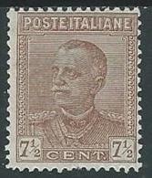 1928 REGNO EFFIGIE 7 1/2 CENT MH * - Y009-2 - 1900-44 Victor Emmanuel III