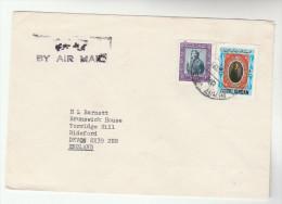 1972 Air Mail JORDAN  COVER Stamps From BRITISH EMBASSY To GB - Jordan