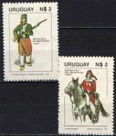 URUGUAY - 1981 - GIORNATA DELLE FORZE ARMATE - CAVALLERIA E FANTERIA - NUOVI MNH - Uruguay