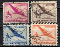 URUGUAY - 1952 - AEREO IN VOLO - POSTA AEREA - USATI - Uruguay