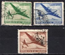 URUGUAY - 1947 - AEREO IN VOLO - USATI - Uruguay