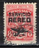 URUGUAY - 1946 - STEMMA CON SOVRASTAMPA AEREO - SERVICIO AEREO - USATO - Uruguay