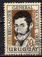 URUGUAY - 1961 - GENERALE MANUEL ORIBE- RIVOLUZIONARIO - USATO - Uruguay