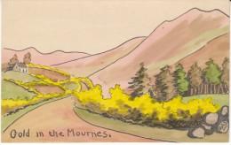 O.A.S. Artist Signed Image 'Gold In The Mournes' Country Scenery, C1900s Vintage Postcard - Altre Illustrazioni