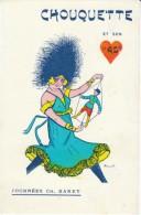 Woman With Puppet Doll, 'Chouquette Et Son As' Tournees Ch. Baret, Bouet Artist Signed,  C1920s Vintage Postcard - Games & Toys