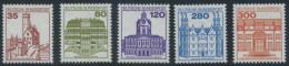 !a! GERMANY 1982 Mi. 1139-1143 MNH SET Of 5 SINGLES - Castles & Chateaus - Neufs