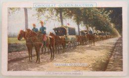 ANCIEN CHROMO DEBUT 20EME CHOCOLAT GUERIN BOUTRON LES GRANDES MANOEUVRES N°81 CONVOI DE VOITURES MEDICALES - Other