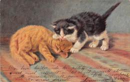Illustrateur Signé M. STOCKS - Chat - Cat - Andere Illustrators