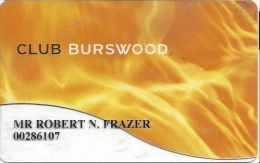 Burswood Casino Australia Slot Card - Clear Card - Casino Cards