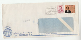 1975 EXPRESS MOROCCO Illus  CAR ADVERT COVER Stamps With SLOGAN Pmk INTERNATIONAL WOMEN YEAR Un United Nations - Morocco (1956-...)