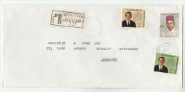 1975 REGISTERED MOROCCO Stamps  COVER To GB - Morocco (1956-...)