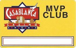 Casablanca Casino Aruba MVP Club Slot Card (Blank)  .....[FSC]..... - Casino Cards