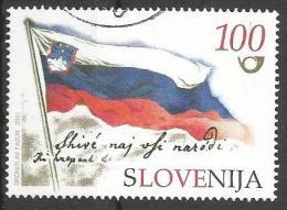 SI 2001-355 FLAG OF SLOVENIA, SLOVENIA, 1 X 1v, Used - Briefmarken