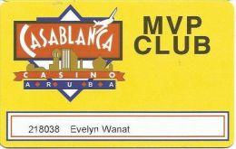 Casablanca Casino Aruba MVP Club Slot Card - 297-586-2283 Phone Number - Casino Cards