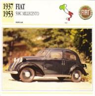 Fiat  508C Millecento    -  1937 -  Fiche Technique Automobile (Italie) - Voitures